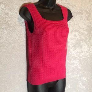 Jeanne Pierre Sweater Tank Bright Pink
